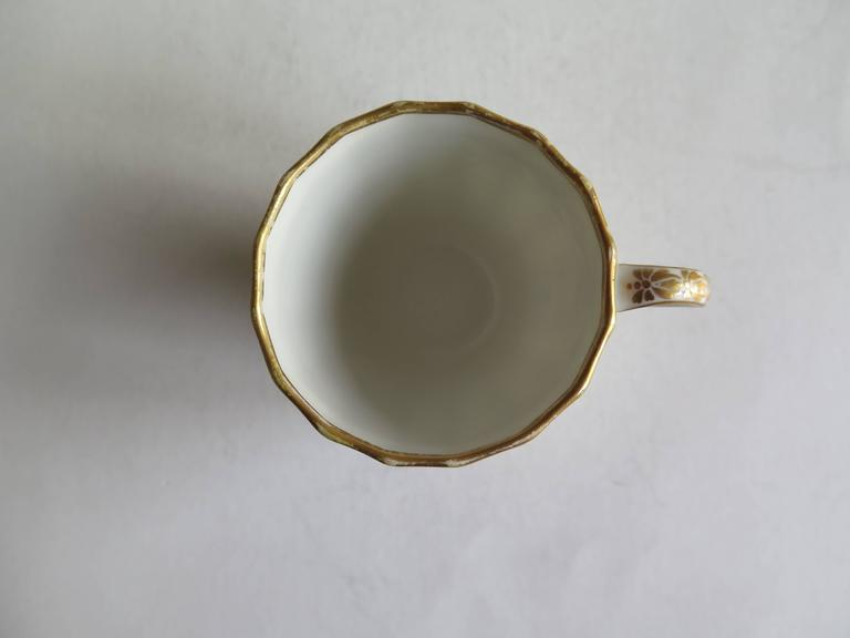 Very Early Derby Porcelain Coffee Cup Pattern 135 Puce Crown and Batons, Ca 1790 For Sale 1