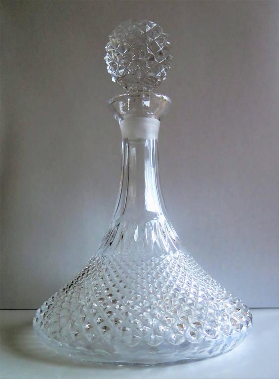 Brand new 19th Century, SHIP's DECANTER, Crystal, Diamond Cut Glass, circa  QX01