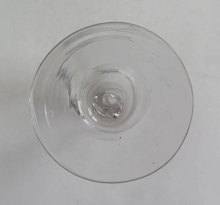 Georgian Ale or Wine Drinking Glass Hand-blown Cotton Twist Stem, English C 1765 For Sale 5
