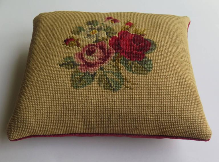 Art Nouveau Late 19th Century Pillow or Cushion Needlepoint tapestry Art-Nouveau Design For Sale