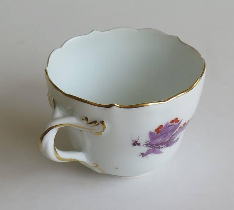 Glazed Meissen Porcelain Demitasse Cup and Saucer Chinese Dragon Pattern, circa 1928 For Sale