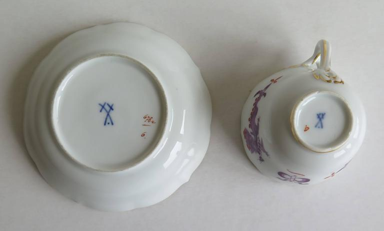 Meissen Porcelain Demitasse Cup and Saucer Chinese Dragon Pattern, circa 1928 For Sale 3