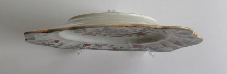 Mason's Ironstone Sandwich Plate or Dish box & vase Chinoiserie Ptn, Circa 1840 For Sale 1