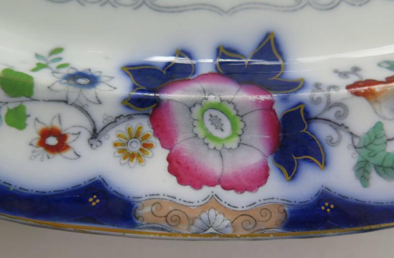English Mason's (F Morley & Co) Ironstone Platter hand painted Chinoiserie, Ca 1850  For Sale