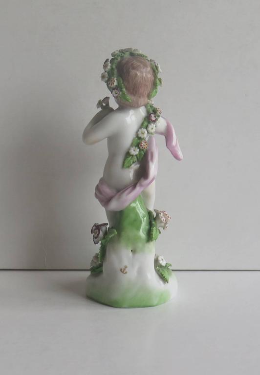 19th Century Samson Porcelain Cherub Putti Figurine, Gold Anchor Mark For Sale 1