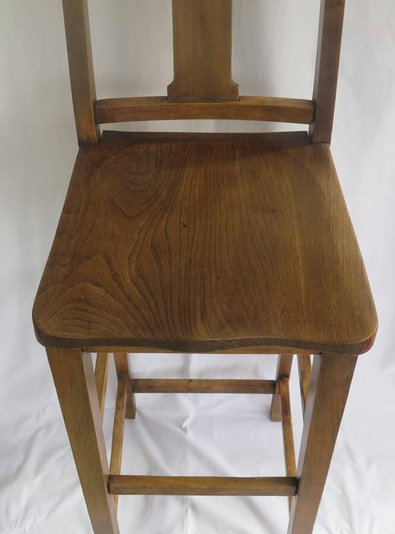 Victorian Clerk's High Chair or Kitchen Chair in Beach and Elm, English Ca. 1880 For Sale 2