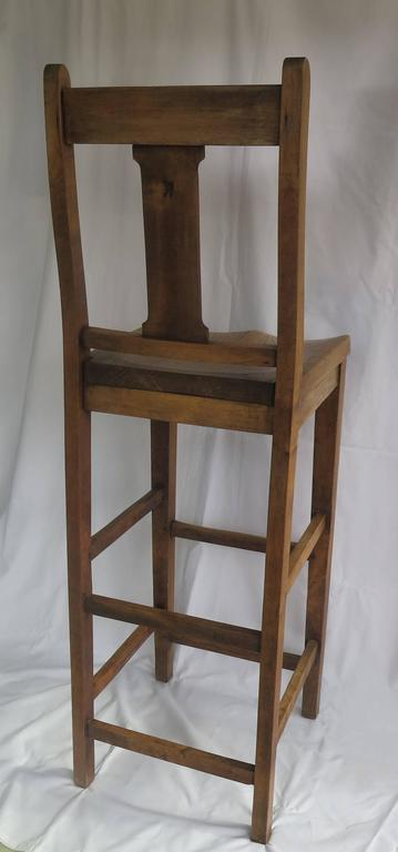 Victorian Clerk's High Chair or Kitchen Chair in Beach and Elm, English Ca. 1880 For Sale 1