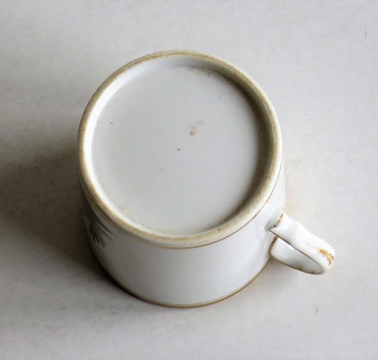 Georgian, Spode Porcelain Coffee Can, Bat Printed Landscape Ptn. 557, circa 1810 For Sale 2