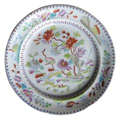 Georgian Davenport Ironstone Dinner Plate Hand Painted Pattern 27, Circa 1810