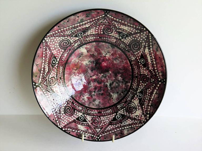 Studio Pottery Ceramic Bowl Hand Thrown and Decorated Signed, Mid-20th C. For Sale 1
