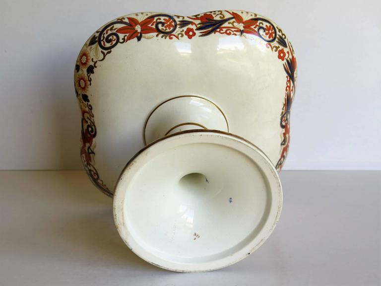 19th Century Wedgwood Taza or Compote Earthenware Chinoiserie Pagoda Pattern For Sale 4