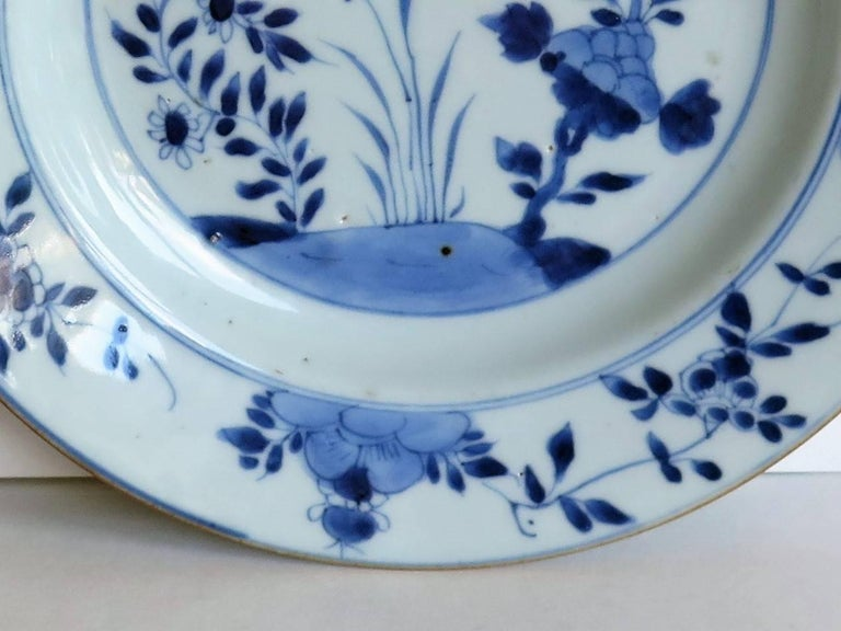 18th Century Chinese Export Porcelain Plate Blue and White, Qing Circa 1735 For Sale 3