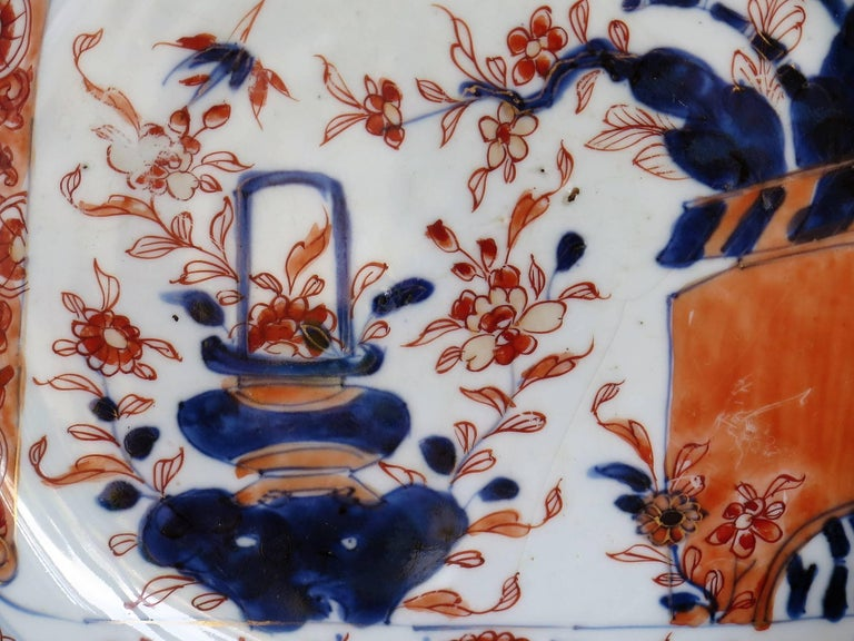 Early 18th Century Chinese Porcelain Deep Plate or Dish,  Qing Ca 1720 For Sale 4