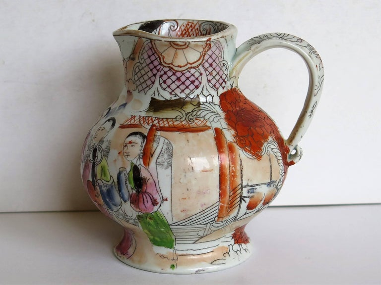 This is an early Mason's Ironstone Jug in a rare shape and pattern.