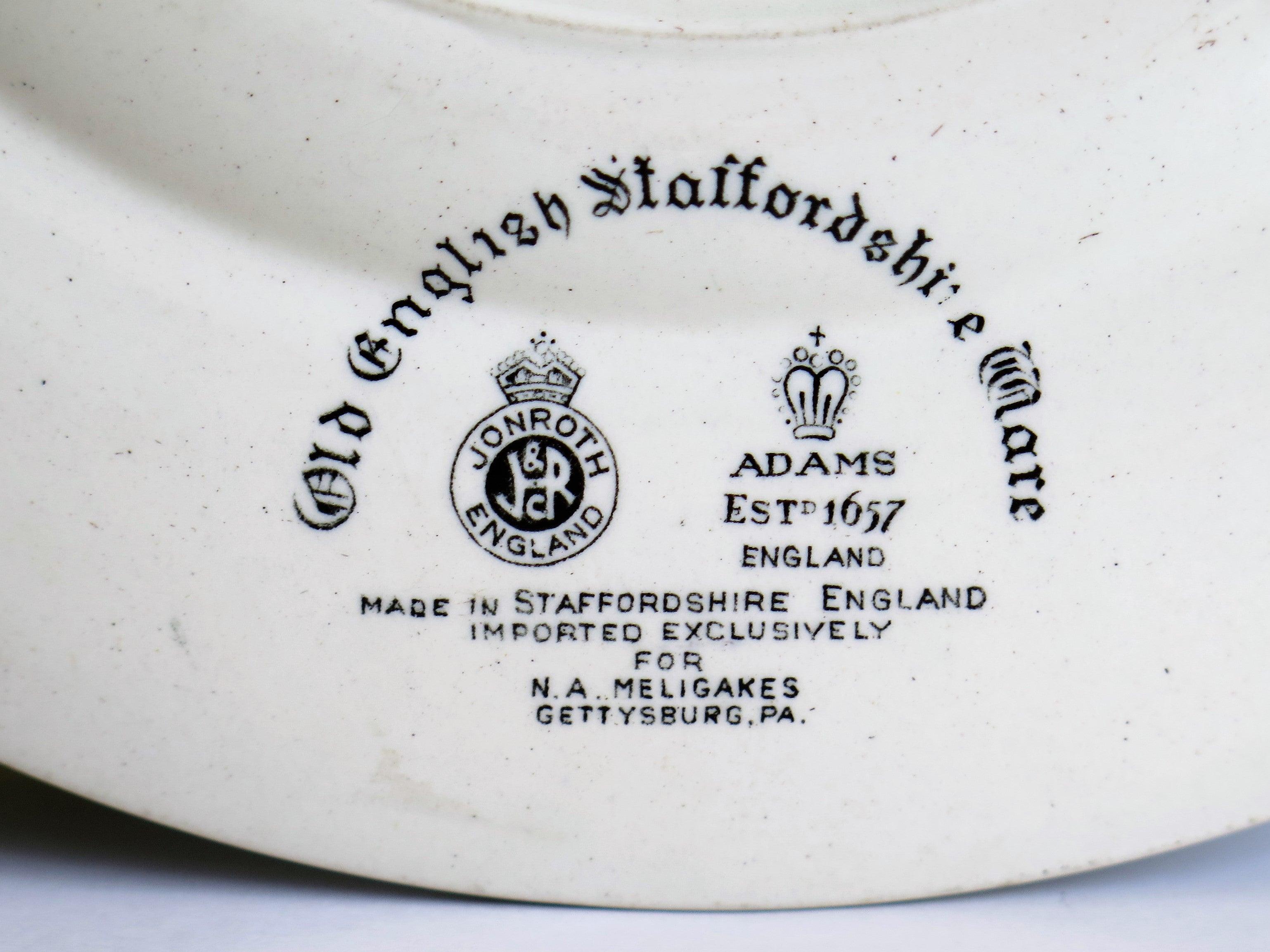 Gettysburg Memorial Plate By William Adams For Jonroth Eathenware