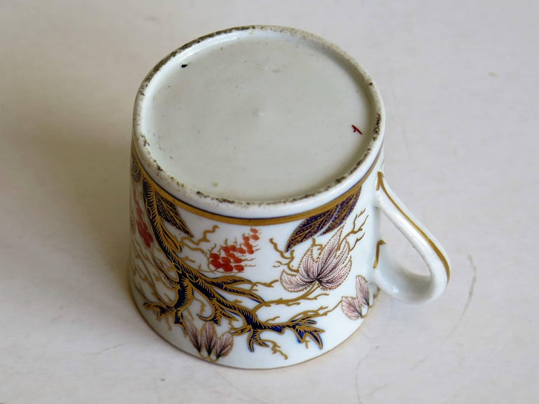 Georgian, New Hall, Coffee Can, Porcelain, Hand-Painted Pattern, circa 1805 For Sale 5