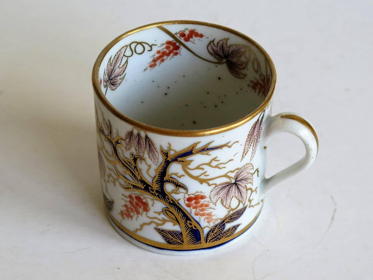 Georgian, New Hall, Coffee Can, Porcelain, Hand-Painted Pattern, circa 1805 For Sale 4