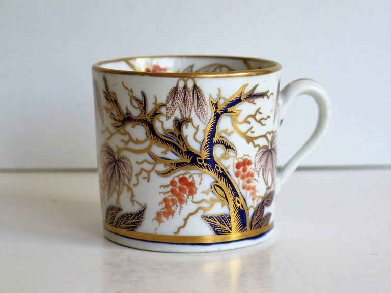 19th Century Georgian, New Hall, Coffee Can, Porcelain, Hand-Painted Pattern, circa 1805 For Sale