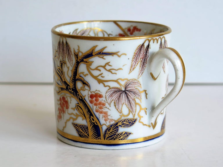 Georgian, New Hall, Coffee Can, Porcelain, Hand-Painted Pattern, circa 1805 For Sale 1