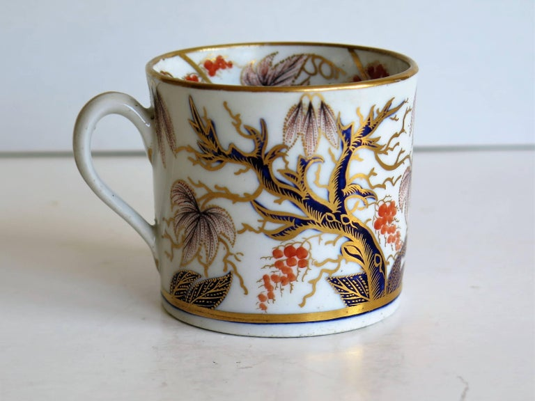 Georgian, New Hall, Coffee Can, Porcelain, Hand-Painted Pattern, circa 1805 For Sale 2