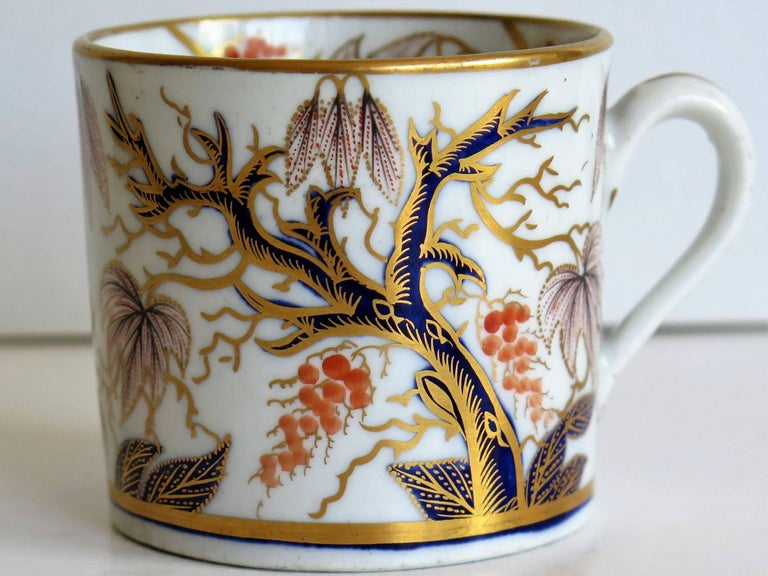 Georgian, New Hall, Coffee Can, Porcelain, Hand-Painted Pattern, circa 1805 For Sale 3