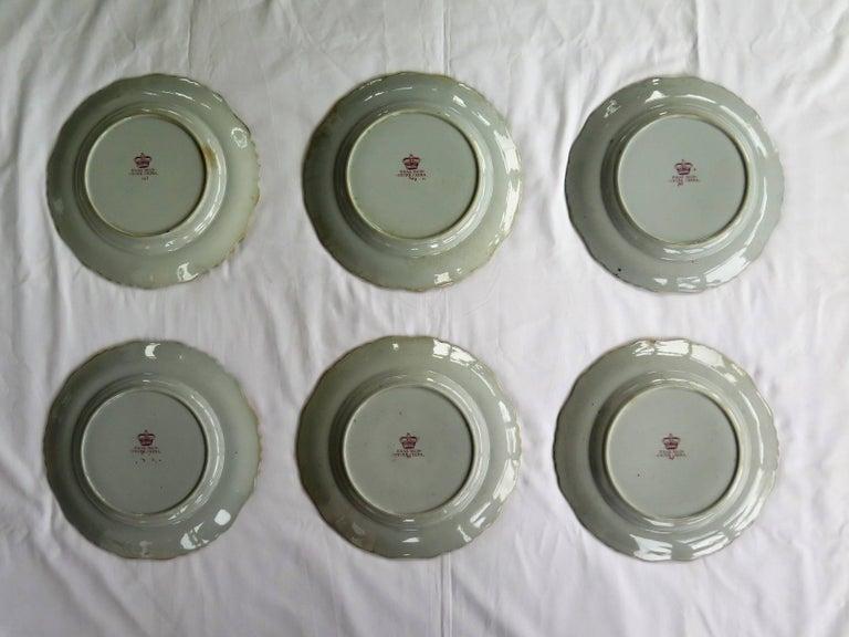 Six Mason's Ashworth's Ironstone Large Dinner Plates Chinoiserie, circa 1865 For Sale 1