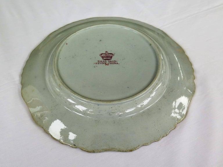 Six Mason's Ashworth's Ironstone Large Dinner Plates Chinoiserie, circa 1865 For Sale 3