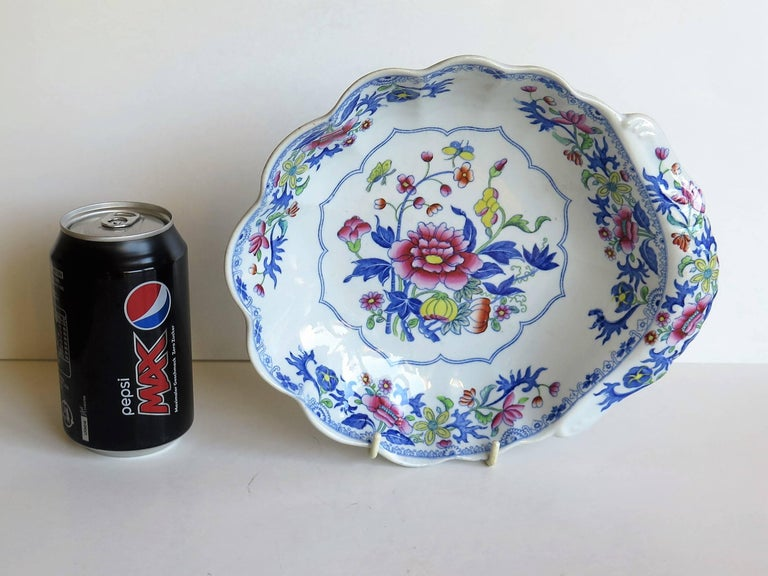 Georgian Spode Ironstone Shell Dish or Plate Bang Up Pattern No. 2886, Ca 1820 For Sale 1
