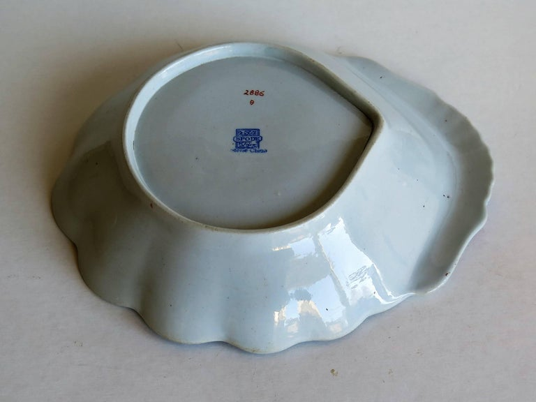 Georgian Spode Ironstone Shell Dish or Plate Bang Up Pattern No. 2886, Ca 1820 For Sale 2
