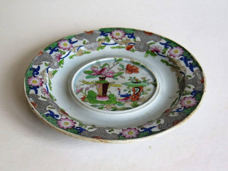 Chinoiserie Early Mason's Ironstone Teapot Stand Table and Flower Pot Pattern, circa 1815 For Sale