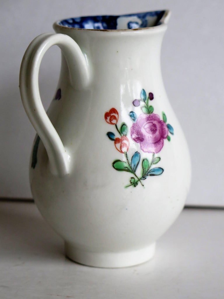 18th Century Doctor Wall First Period Worcester Sparrow Beak Jug Porcelain, Circa 1770 For Sale