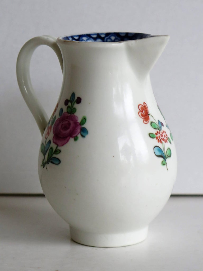 First Period Worcester Sparrow Beak Jug Porcelain, circa 1770 For Sale 1