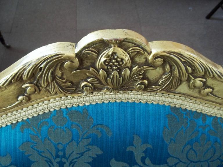 Mid-19th Century, Settee or Sofa, Louis XV Style, English, Giltwood, circa 1850 10