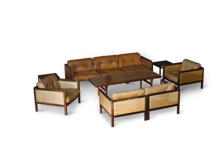Illum Wikkelso Prototype Sofa Suite Made of Rosewood, circa 1968 2