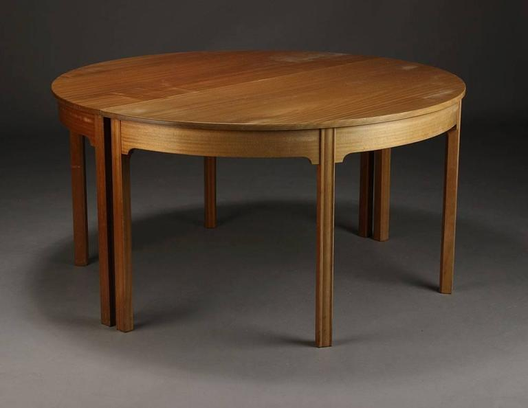 This table was ordered by architect Palle Suenson as conference table for a company in Arhus, Denmark. The building was designed and built in the period 1939-1942, so it is assumed that the table was ordered in this same time frame. 