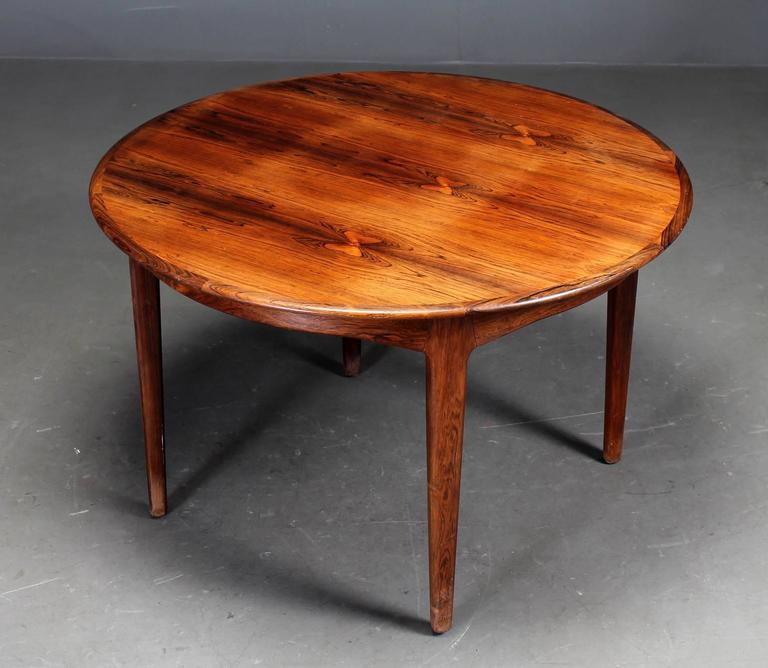 20th Century Danish Rosewood Dining Table by Henning Kjaernulf For Sale