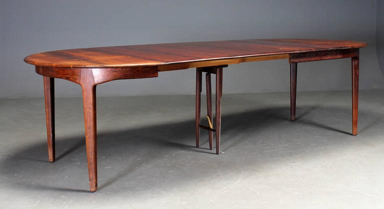 Danish Rosewood Dining Table by Henning Kjaernulf For Sale 2