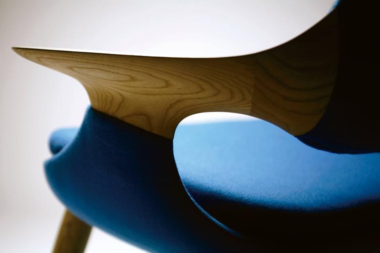 Japanese Miyazaki Sofa Made of Solid Oak For Sale