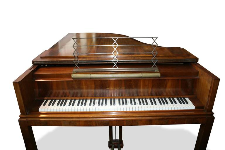Art Deco Architect Designed Grand Piano by Denmark's Leading Piano Maker Dated 1929 For Sale