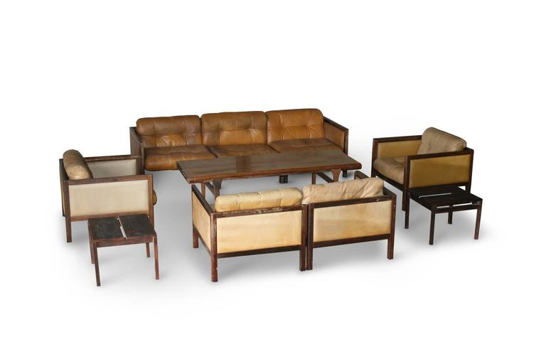 Illum Wikkelso Prototype Sofa Suite Made of Rosewood, circa 1968 5