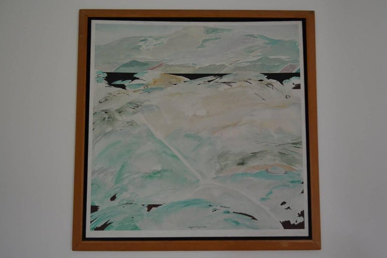 Tikashi Fukushima, 1920-2001  Landscape from this well-known Japanese/Brazilian artist In original wood frame.  Good condition, has patch to verso where a dent in the canvas has been repaired.  Japanese Brazilian artist who was thought of as