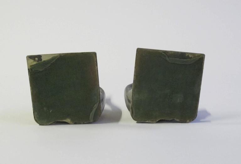 Two Art Deco Cat Bookends, designed by Chris van der Hoef for Gero, 1933 For Sale 3