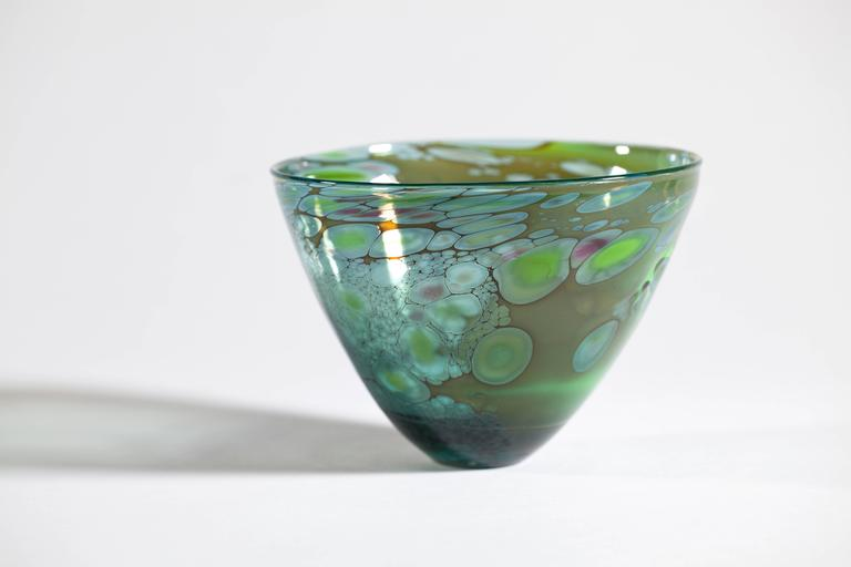 Unique Art Glass Bowl by Willem Heese, Executed by De Oude Horn 3
