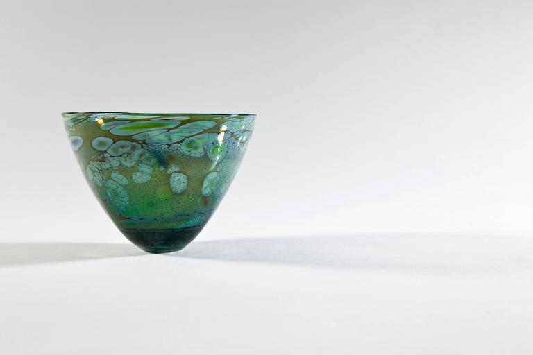 Unique Art Glass Bowl by Willem Heese, Executed by De Oude Horn 5