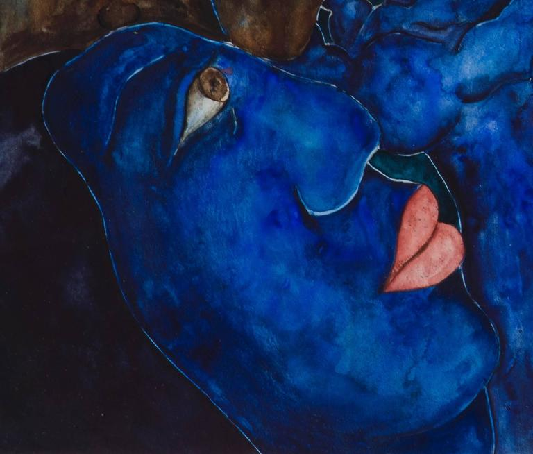 Laura Hernandez, 'Amantes', Watercolor, 1993 3