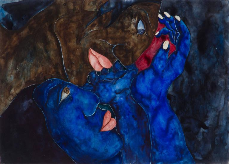 Laura Hernandez, 'Amantes', Watercolor, 1993 7