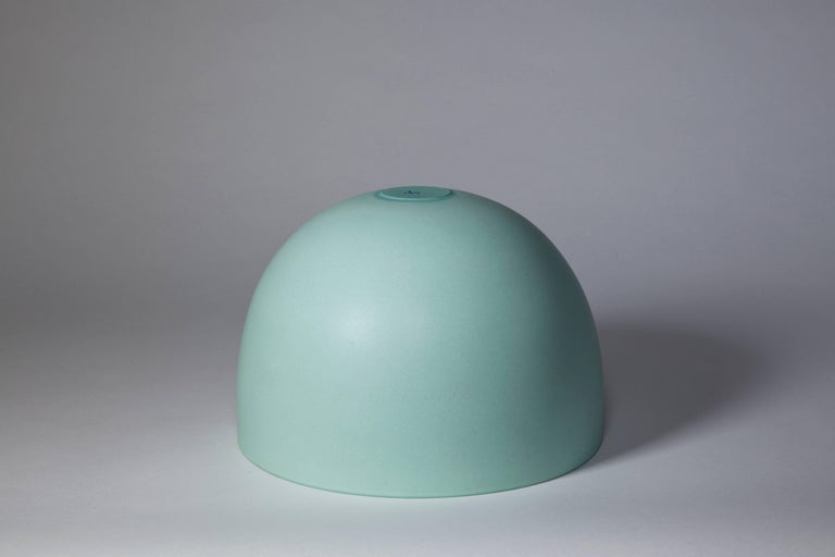 Dutch Light Green Bowl, Stoneware with Terra Sigilata Glaze, One-Off by Geert Lap For Sale