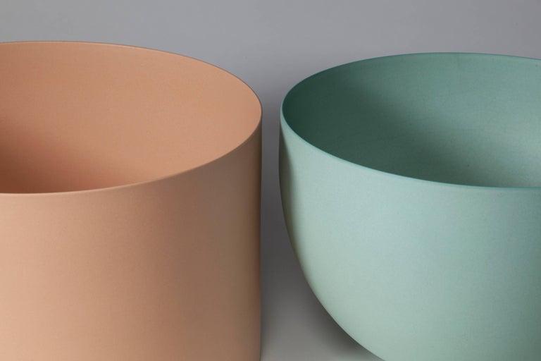 Light Green Bowl, Stoneware with Terra Sigilata Glaze, One-Off by Geert Lap 7