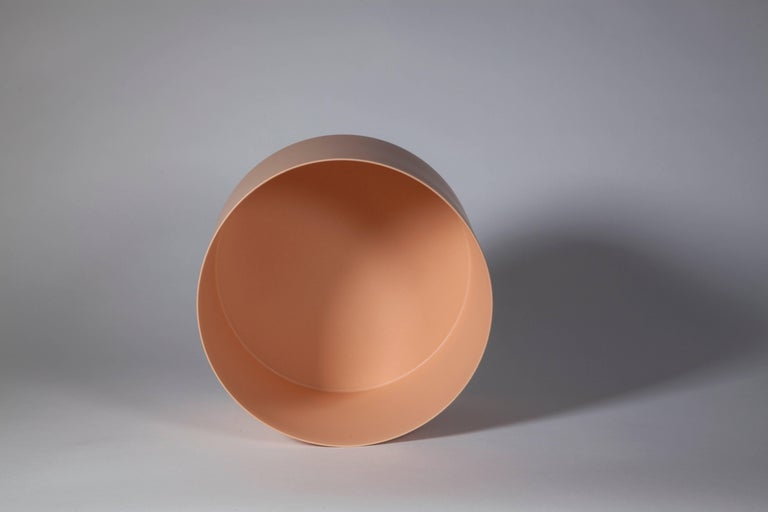 Salmon Pink Bowl, Glazed Stoneware, One-Off by Geert Lap 3