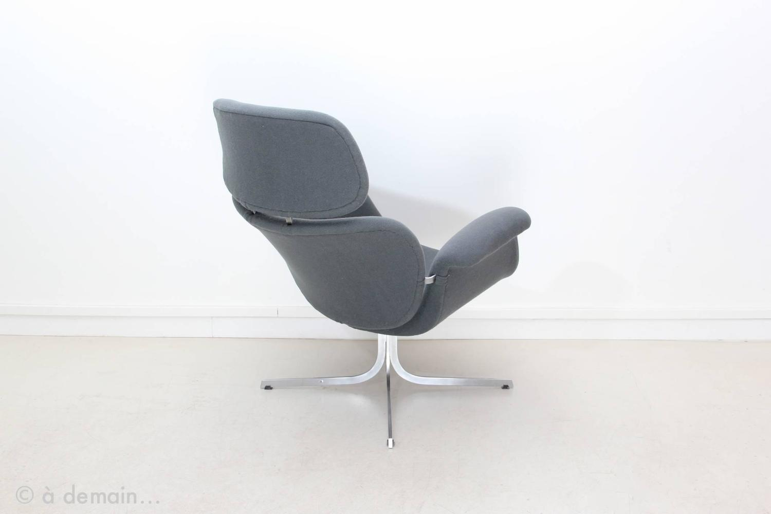 1965 Big Tulip Lounge Chair with Ottoman by Pierre Paulin Edited by Artifort